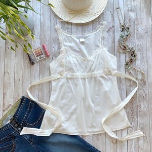 Charlotte Russe Cotton Camisole Babydoll Tank